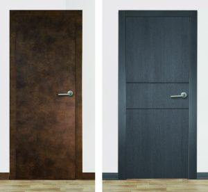 Puertas Miansa melamina oxido roble grafito