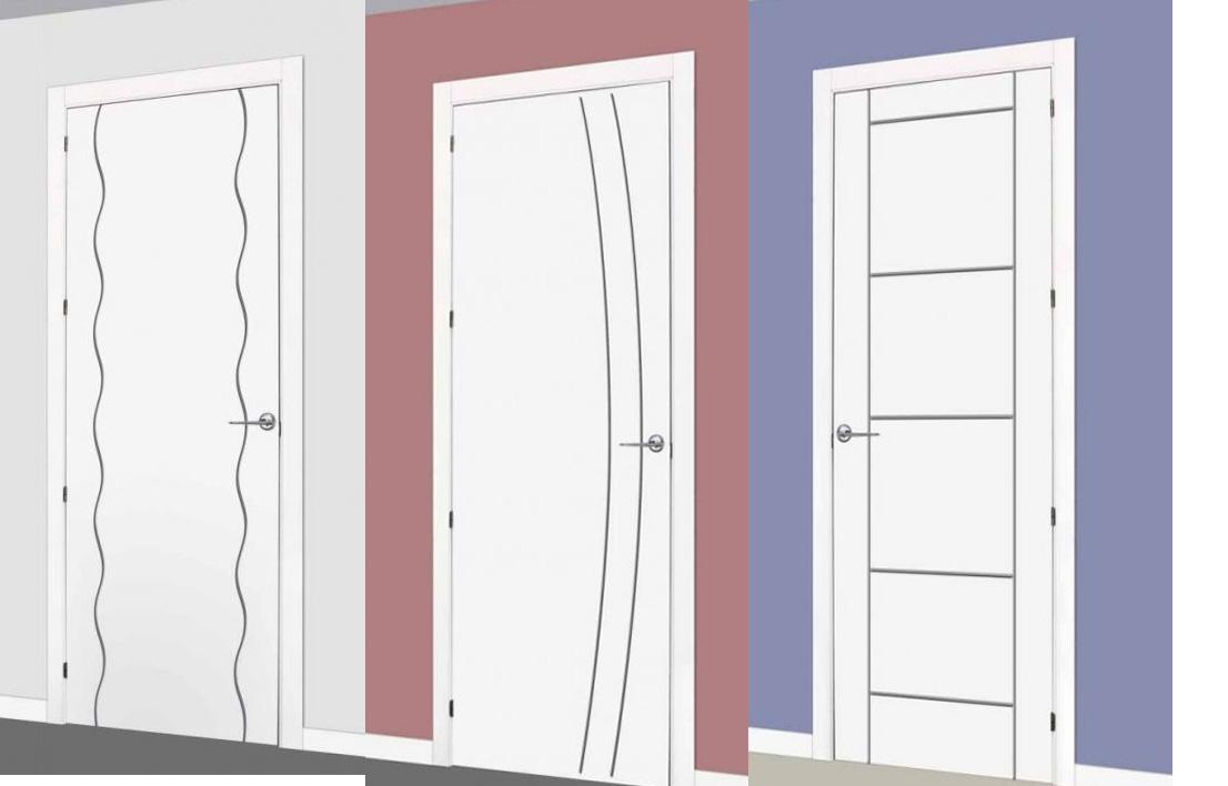 Puertas lacadas en blanco con incrustaciones de metal for Puertas de metal con diseno