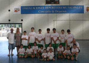 Equipo futbol patrocinado por puertas Miansa de Velilla de San Antonio