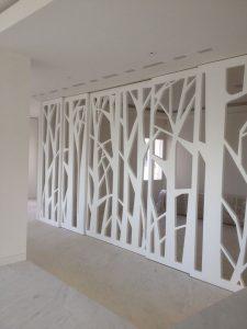 Puerta Pantografiada lacada blanco